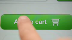 Add to Cart button Stock Footage