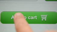 Stock Video Footage of Add to Cart button