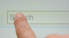 Search button Stock Footage