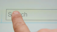 Stock Video Footage of Search button