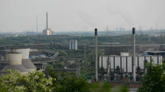 Green industrial region Stock Footage