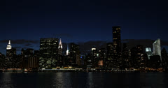 Ultra HD 4K Citigroup, Empire State Building, NYC Skyline, by night, Chrysler Stock Footage