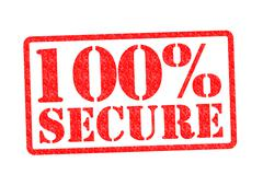 Stock Illustration of 100% SECURE