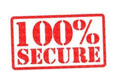 100% SECURE Stock Illustration