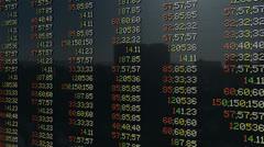 Osakemarkkinoiden pannel, kallistus Arkistovideo