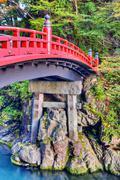sacred bridge - stock photo