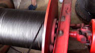 Stock Video Footage of Winches, Cranks, Cables, Machines, Industrial