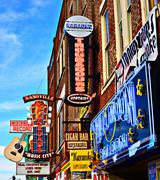 Broadway nashville Stock Photos