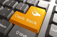 Stock Illustration of Keyboard with Cash Back Button.