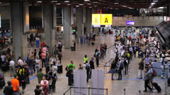 Brazil - Guarulhos Airport - Timelapse - Check In Area - Sao Paulo - 1 Stock Footage
