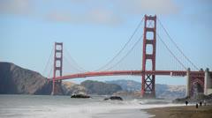 Golden Gate Bridge San Francisco Stock Footage