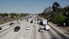 Afternoon Rush Hour In LA Stock Footage