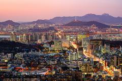 Soul, Etelä-Korea horisonttiin Kuvituskuvat