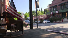 Historic main street Auburn, CA Stock Footage