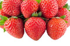 Appetizing strawberries Stock Photos