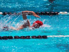 Freestyle swim heat - stock photo