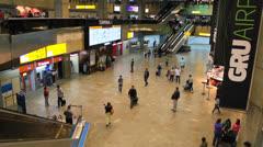 Brazil - Guarulhos Airport - São Paulo - Passengers. Tourism. 3 Stock Footage
