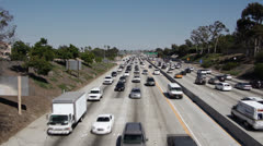 Los Angeles Rush Hour Traffic Stock Footage