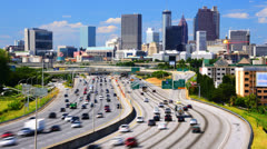 Downtown Atlanta Cityscape Stock Footage