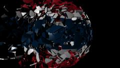 Thailand flag sphere combining and breaking apart animation Stock Footage