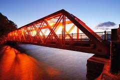 Sansen bridge in hokkaido, japan Stock Photos