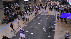 Brazil - Guarulhos Airport - Timelapse - Check In Area - Sao Paulo - 17 Stock Footage