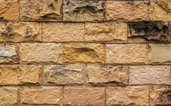 Old Brown Brick Wall, Texture and Background, Closeup. Stock Photos