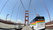 Stock Video Footage of POV Driving Across the Golden Gate Bridge Daytime San Francisco
