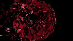 Albania flag sphere combining and breaking apart animation Stock Footage