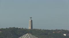 Cristo-Rei in Lisbon Stock Footage