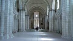 The Nave - Fontevraud Abbey - Fontevraud-l'Abbaye France Stock Footage