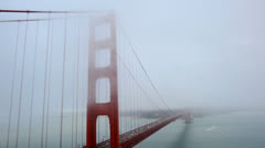 Golden Gate Bridge covered in Spring Fog - Time Lapse Stock Footage