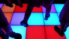 Light Up Dance Floor Stock Footage