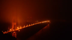 Golden Gate Bridge covered in Evening Fog - Time Lapse - stock footage