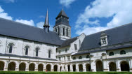 Stock Video Footage of The Cloister (2) - Fontevraud Abbey - Fontevraud-l'Abbaye France