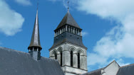 Stock Video Footage of Church Steeple (1) - Fontevraud Abbey - Fontevraud-l'Abbaye France
