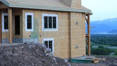 Construction with a view Stock Footage