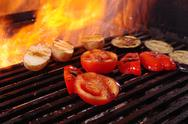 Stock Photo of cooking vegetables  barbecue