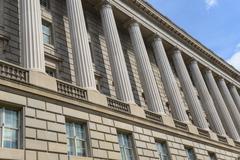 Pillars of law Stock Photos
