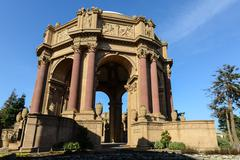 palace of fine arts in san francisco - stock photo