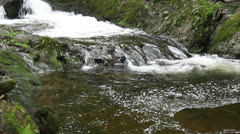 Water fall and creek Stock Footage