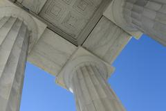 pillars in lincoln memorial - stock photo