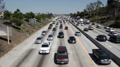 LA Freeway Traffic Stock Footage