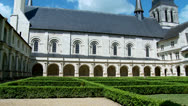 Stock Video Footage of The Cloister (1) - Fontevraud Abbey - Fontevraud-l'Abbaye France