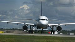 Airplanes taxiing Stock Footage