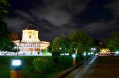 Phra sumen fort at night, bangkok, thailand Stock Photos
