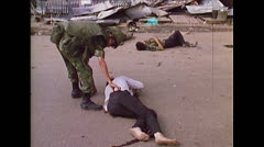 Vietnam War Saigon - ARVN Searching Dead 04 Stock Footage