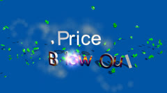 """Price Blow Out""  Retail Advertising Sequence Stock Footage"