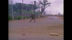 Vietnam War Saigon - ARVN Running Street 01 Stock Footage