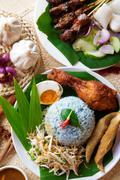 malay rice dish - stock photo